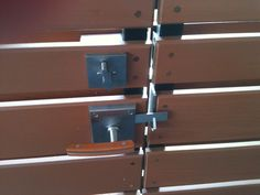 Inside view of a double gate, with optional deadbolt.     Moda Contemporary Modern Stainless Steel Gate Latch Lever Latch