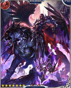 Rage of Bahamut - Andras Dark Fantasy Art, Anime Fantasy, Fantasy Artwork, Dark Art, Fantasy Character Design, Character Art, Shingeki No Bahamut, Dragon Knight, Arte Horror