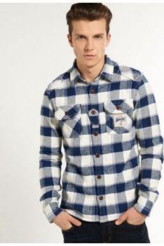 Superdry plaid flannel jacket
