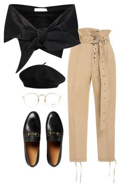 """""""Untitled #1866"""" by emmastrouse ❤ liked on Polyvore featuring Marissa Webb, Gucci, Marques'Almeida and Ray-Ban"""