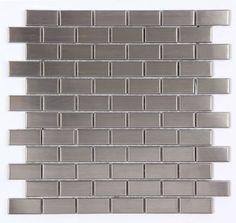 Stainless Steel Brick Metal 1x2 Mosaic Kitchen Tiles, Marble & Glass Backsplash, Floor & Wall Tiles AllMarbleTiles.com Kitchen Tiles, Marble & Glass Backsplash, Floor & Wall Tiles www.allmarbletiles.com