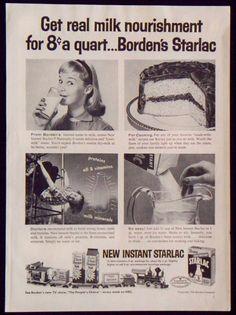 1950's Borden's Instant Starlac Nonfat Dry Milk Magazine Ad Carol Lynley  | Collectibles, Advertising, Food & Beverage | eBay!