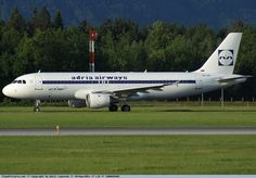 """Adria Airways Airbus """"RetroJet"""" (registered at Ljubljana Airport, Slovenia Adria Airways, Fly Baby, Flying With A Baby, Airline Logo, Plane Design, Flight Attendant, Science And Nature, Slovenia, Airplanes"""