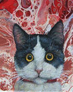 "Daily Paintworks - ""What!"" - Original Fine Art for Sale - © Joy Campbell Ebay Auction, Fine Art Gallery, Planet Earth, Cat Art, Art For Sale, Giraffe, Owl, Portraits, Kitty"