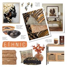 """Ethnic"" by c-silla ❤ liked on Polyvore featuring interior, interiors, interior design, home, home decor, interior decorating, Flamant, Safavieh, NOVICA and Pier 1 Imports"