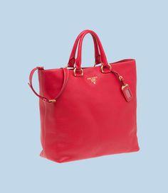 prada hand bags - TOTE VItello Daino GRAINED CALF LEATHER TOTE DOUBLE HANDLE ...