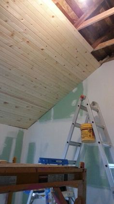 Knotty pine ceiling 12 ft tongue and groove