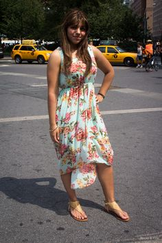 Floral high-low maxi dress!