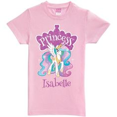 Personalized My Little Pony Princess Celestia Pink Toddler Girls' Fitted T-Shirt, Girl's