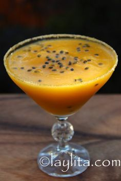 Mango passion fruit margarita - Laylitas Recipes - Latin recipes with step by step photos