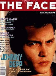 Johnny Depp - The Face Magazine [United Kingdom] (July 1991)