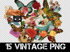 15 VINTAGE PNG + by ~Discopada on deviantART