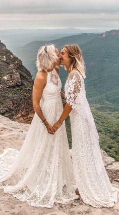 The HARRI & VERDLLE 2.0 gown | Grace Loves Lace @laurenshultzvisuals #weddingdress #beachwedding #samesexwedding