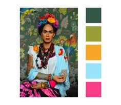 #color #palette #raja #rajagemini #sutanamrull #rupaul #drag #queen #fridakahlo #inspiration