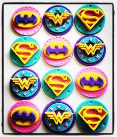 12 x Girlie Superhero Edible Cupcake Toppers Batgirl Happy Birthday Kids, 10th Birthday Parties, Birthday Celebration, Birthday Party Themes, Girl Birthday, Superman Party, Superhero Theme Party, Superhero Birthday Cake, Superhero Cupcake Toppers