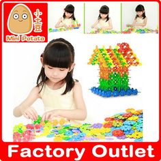 100PCS Snowflake Building Blocks Model Building Toy Bricks DIY Assembling Classic Toys And Children's Products (aliexpress)