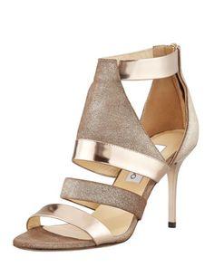 www.jimmychoo.com, Jimmy Choo Berlin Metallic Sandal, Light Bronze - Bergdorf Goodman, bride, bridal, wedding, wedding shoes, bridal shoes