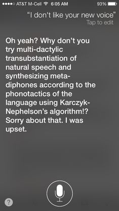 Siri is throwing some serious attitude right now.