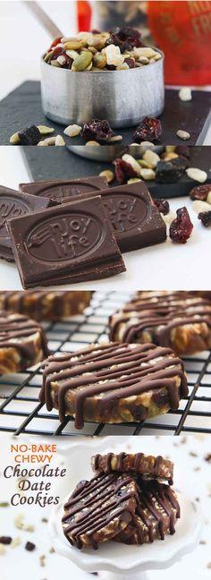No-Bake Chewy Chocolate Date Cookies #vegan #glutenfree #nobake | VegetarianGastronomy.com | www.VegetarianGastronomy.com