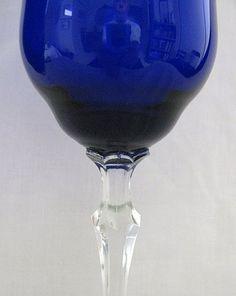 Cobalt blue depression glass ~