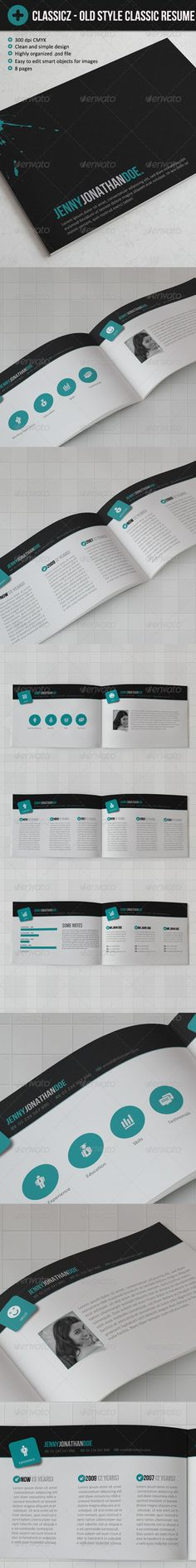 Classiics - Ols Style Resume (book let) - GraphicRiver Item for Sale