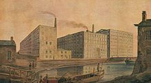 McConnel & Company mills, about 1820 - History of Manchester - Wikipedia, the free encyclopedia History Museum, Art Museum, Manchester Worker Bee, Cotton Mill, Rochdale, Salford, Industrial Revolution, Colorful Drawings, Victorian Era