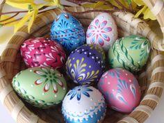 Quail Easter Egg Quail Egg Pysanka in Pink Wax by EggstrArt