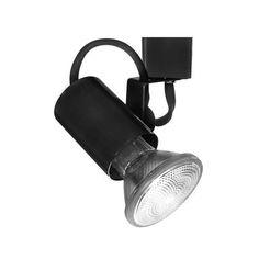 WAC Lighting HTK-178 Line Voltage 2 Wide 1 Light Track Head for H-Track Track Systems (Black Finish)