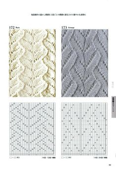 260 Knitting Pattern Book by Hitomi Shida 2016 — Я - Tricot Pontos Lace Knitting Stitches, Cable Knitting, Sweater Knitting Patterns, Knitting Charts, Knit Patterns, Stitch Patterns, Knit Art, Pattern Books, Yandex Disk
