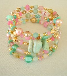 Boho Bracelet Glamour Jewelry Artisan Bracelet Old by BohoStyleMe Wire Wrapped Bracelet, Wrap Bracelets, Beaded Bracelets, Old Hollywood, Artisan, Glamour, Gift Ideas, Contemporary, Boho