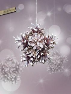 Pine cones snowflake Ornament nature and original decor for Christmas tree. $8.00, via Etsy. by Aeerdna