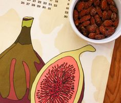 Year of the Fig tea towel calendar by Flytrap Studios