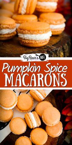 Oreo Dessert, Pumpkin Dessert, Macaron Filling, Macaron Flavors, Pumpkin Spice Cookies, Pumpkin Spice Latte, Pumpkin Pumpkin, Healthy Pumpkin, Pumpkin Bread