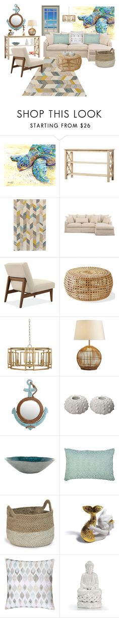 """""""Senza titolo #6306"""" by waikiki24 ❤ liked on Polyvore featuring interior, interiors, interior design, home, home decor, interior decorating, Pottery Barn, Privilege, Elisabeth York and Palecek"""