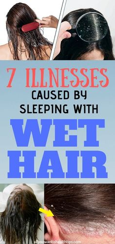Many of us have the habit of going to bed with wet hair. However, sleeping with wet or even damp hair can be the cause of many health problems. Health And Fitness Tips, Health Advice, Health And Wellness, Wellness Plan, Nutrition Tips, Vegan Nutrition, Wellness Center, Wellness Fitness, Wellness Tips