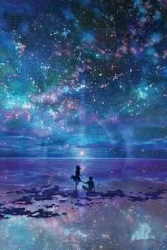 Dans le fond d'affiche de ciel nocturne The Effective Pictures We Offer You About anime dessin m Art Galaxie, Galaxy Art, Galaxy Anime, Galaxy Space, Star Sky, Star Ocean, Fantasy Landscape, Landscape Art, Night Skies