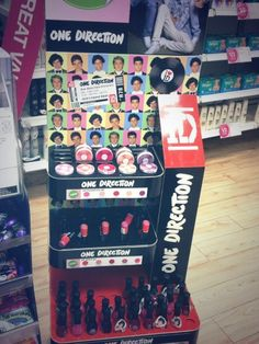 One Direction makeup. This is cool I wish that I could find this at Wal-mart or at any store. Found out Superdrugs. This isn't fair that Wal-Mart or Target doesn't have this. And there isn't any Superdrugs in the United States. That isn't fair.