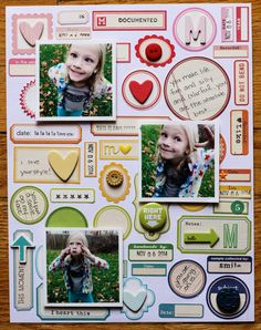 #Papercraft #scrapbook #layout. October Afternoon: Work those Labels