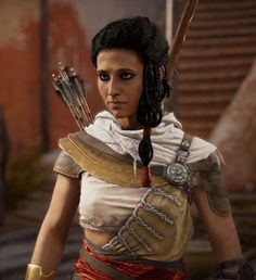 Aya was a Greco-Egyptian agent to Cleopatra VII, the last pharaoh of Egypt. Trained in the arts of the Medjay, she was the wife of the Medjay Bayek. Assassins Creed Origins, Assassins Creed Odyssey, All Assassin's Creed, Female Assassin, Cosplay, The Originals, Game Pics, Twitter Icon, Fantasy