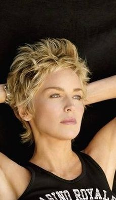 Short Shag Hairstyles for Women Over 50 Back Veiws – Bing Images – craftIdeaorg – craftIdeaorg - Hair Style Image Sharon Stone Short Hair, Sharon Stone Hairstyles, Cute Hairstyles For Short Hair, Curly Hair Styles, Short Haircuts, Funky Short Hair, Short Grey Hair, Thin Hair Cuts, Short Hair Cuts For Women