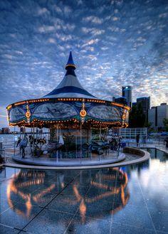 Rivard Plaza | Detroit Riverwalk Carousel