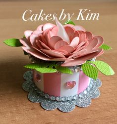 Valentines Blossom Tea Light Cake (made by Kim) Tea Light Lanterns, Tea Lights, Easy Diy Crafts, Crafts To Do, Baby Shower Treats, Light Cakes, Candle Craft, Pop Up Box Cards, Explosion Box