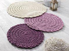 Carpet: Reversible Crochet Rug, 100% virgin wool. http://www.heine.de/is-bin/INTERSHOP.enfinity/WFS/Heine-HeineDe-Site/de_DE/-/EUR/SH_ViewProduct-ArticleNo?ArticleNo=010886=detailview=query1=Produktempfehlung/Artikeldetails