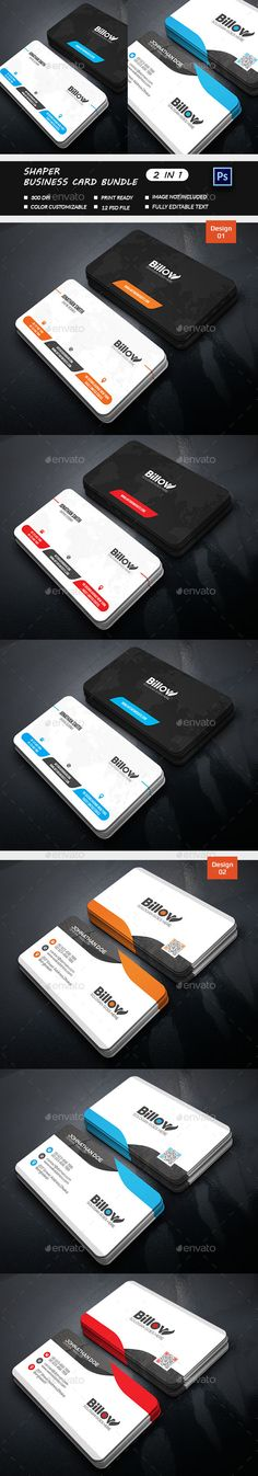 Shaper  Business Card Bundle  - Business Cards Print Template PSD. Download here: http://graphicriver.net/item/shaper-business-card-bundle-/16701480?s_rank=302&ref=yinkira