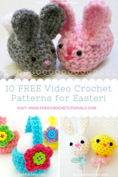 10 Super FUN and FREE Easter Themed Video Crochet Patterns Available on YouTube! via @freecrochettuts