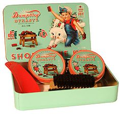 Shoe Shine Kit...I can still smell that polish!