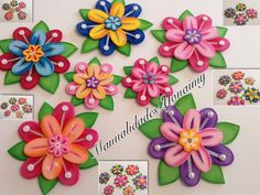 FLORES DE PRINCESA EN FOAMY O GOMA EVA.- PRINCESS FLOWERS