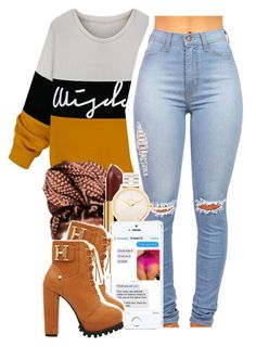 """I Only Love It When You Touch Me Not Feel Me"" by babygirlslayy ❤ liked on Polyvore"