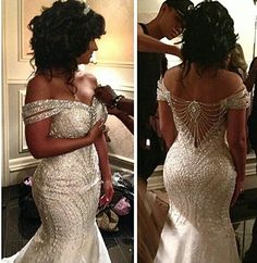 2015 Portrait Mermaid Organza Beading Backless Sequin Off Shoulder Bridal Gowns Sweep Train Wedding Dresses Custom Made Bridal Vestidos Bridal Wedding Dress Cheap Lace Wedding Dress From Yateweddingdress, $155.46| Dhgate.Com
