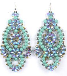 Beading Kits Beads Gone Wild Bracelets Necklaces Earrings Instructions Tutorials Glenda Paunonen Beaded Earrings Patterns, Seed Bead Earrings, Jewelry Patterns, Seed Beads, Bracelet Patterns, Drop Earrings, Bead Jewellery, Beaded Jewelry, Handmade Jewelry
